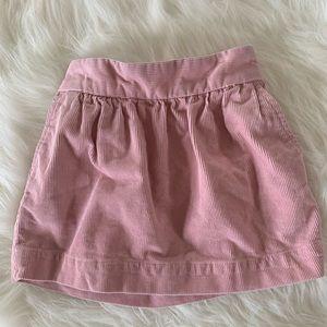 J. Crew Crewcuts Pink Corduroy Skirt Size 3